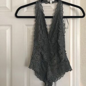 Sexy Lace bodysuit/ lingerie with open back